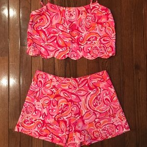 Lilly Pulitzer Ivy Crop Top and Short set
